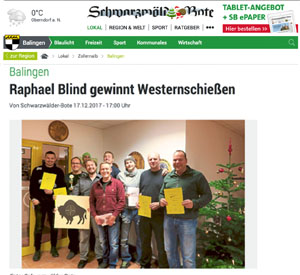Rafael Blind gewinnt Westernschießen